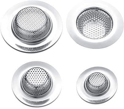 Maxware 4 Pcs Stainless Steel Sink Strainer Set Kitchen Sink Strainer Shower Drain Cover For Bathtub Kitchen Sink Strainer Bathroom Sink Strainer Amazon Com