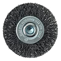 """Mercer Industries 182020 Crimped Wire Wheel, 2"""" x 1/4"""" Shank, For Drills and Die Grinders"""
