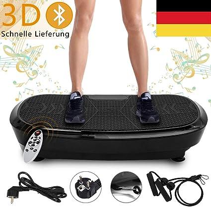 3D Vibrationsplatte Ganzkörper Trainingsgerät Fitness Power Platte mit Bluetooth