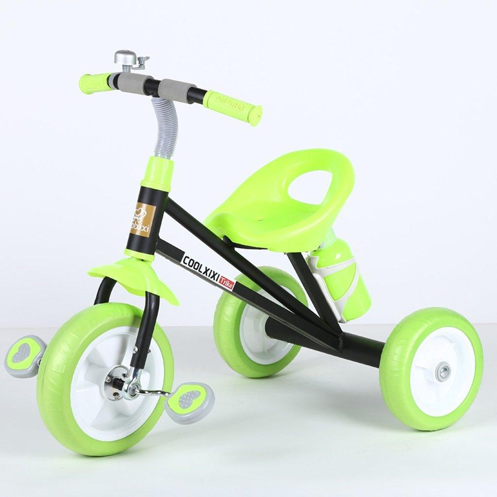 子供の三輪車2-6歳の赤ちゃんバイクおもちゃの車若い子供たちの自転車、ピンク、黒、シアン、グリーン ( Color : Black ) B07CG96LZH