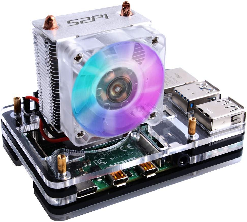 GeeekPi Raspberry Pi 4 Caja con Ventilador de CPU Ice Tower Cooler ...