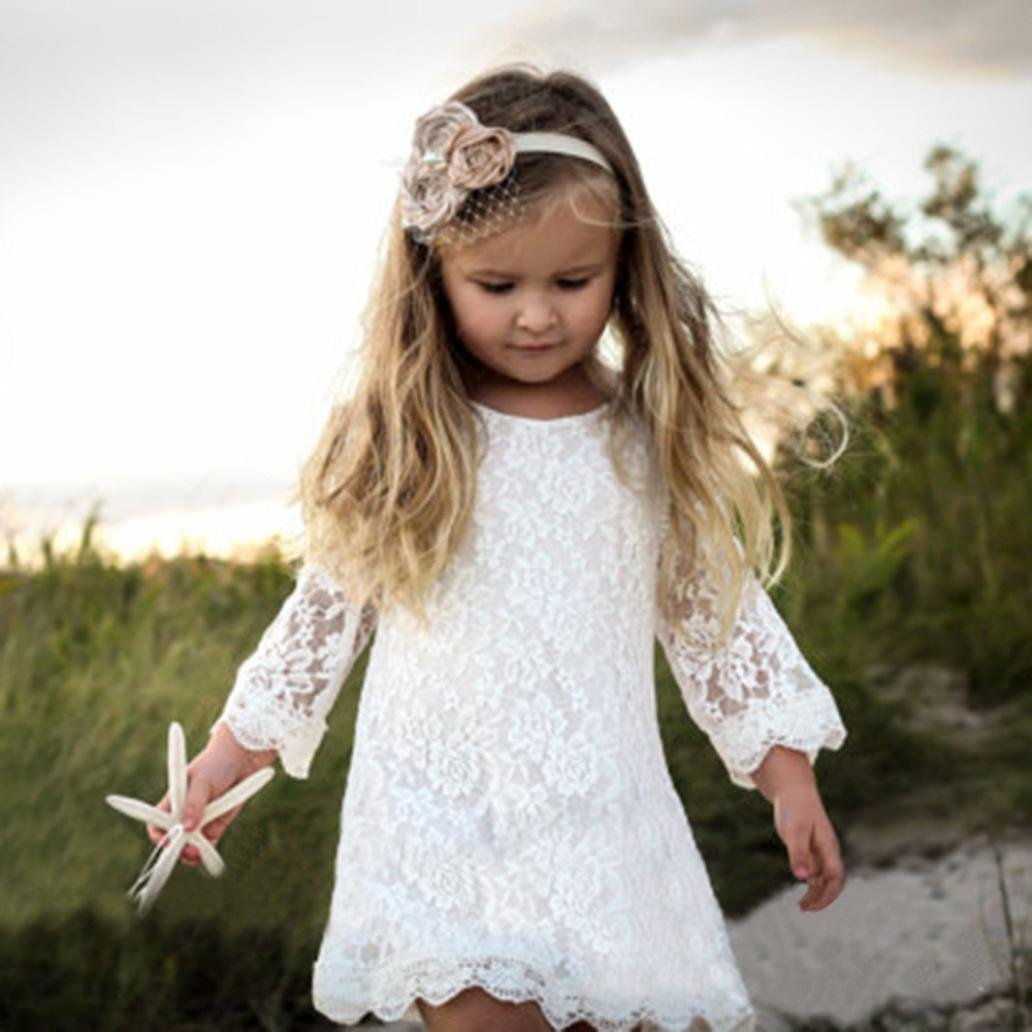 Balakie Girl Lace Dress Long Sleeve Formal Princess Dress Outfits