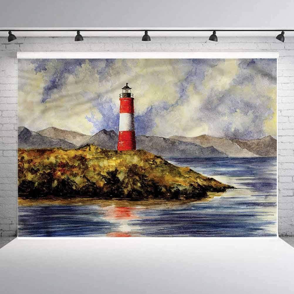 5x5FT Vinyl Photo Backdrops,Lighthouse,Les Eclaireurs on Coast Photoshoot Props Photo Background Studio Prop