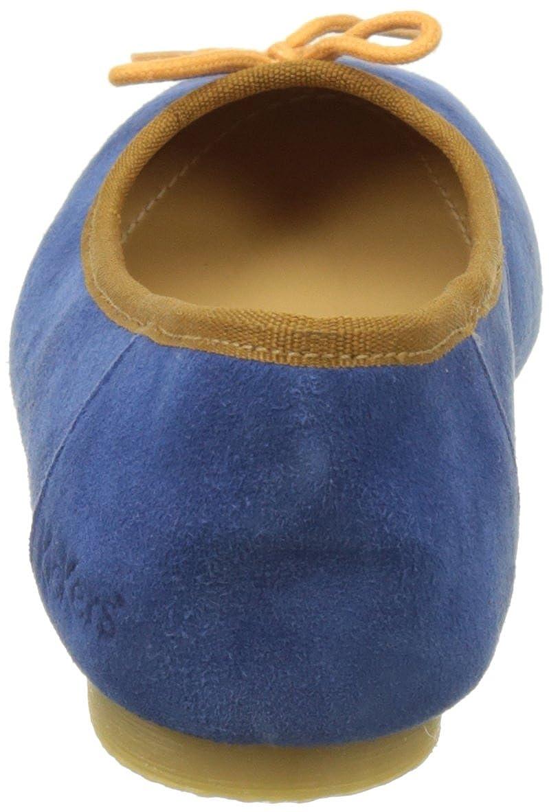 Kickers Damen Baie Geschlossene Ballerinas, Ballerinas, Ballerinas, blau/orange Blau (Bleu Orange 53) 77106f