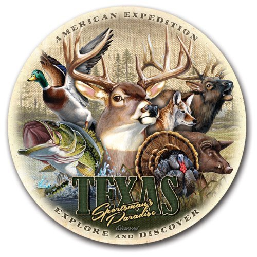 (Stone Coaster Sets Regional Collage Design (Texas Sportsman's Paradise))