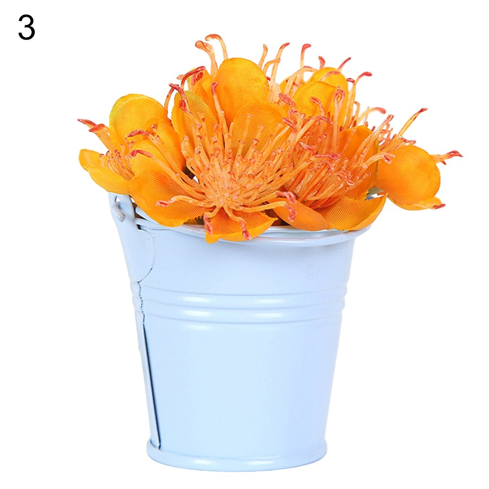 super1798 Cute Mini Pail Bucket Wedding Party Candy Favours Home Hotel Decor Lake Blue