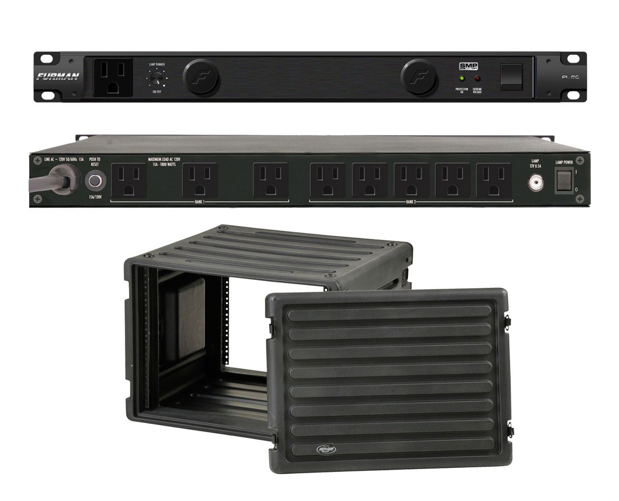 Furman PL-8 C Rack Mount Power Conditioner + SKB 1SKB-R8U Roto Molded 8U Rack