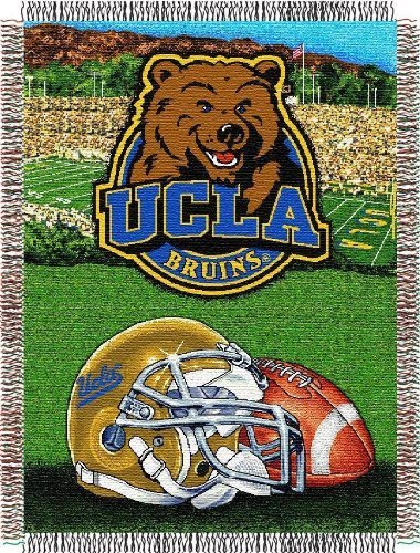 The Northwest Company Officially Licensed NCAA UCLA Bruins Home Field Advantage Woven Tapestry Throw Blanket, 48