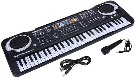 leegoal Piano con Teclado Electrónico de 61 Teclas, Kids ...