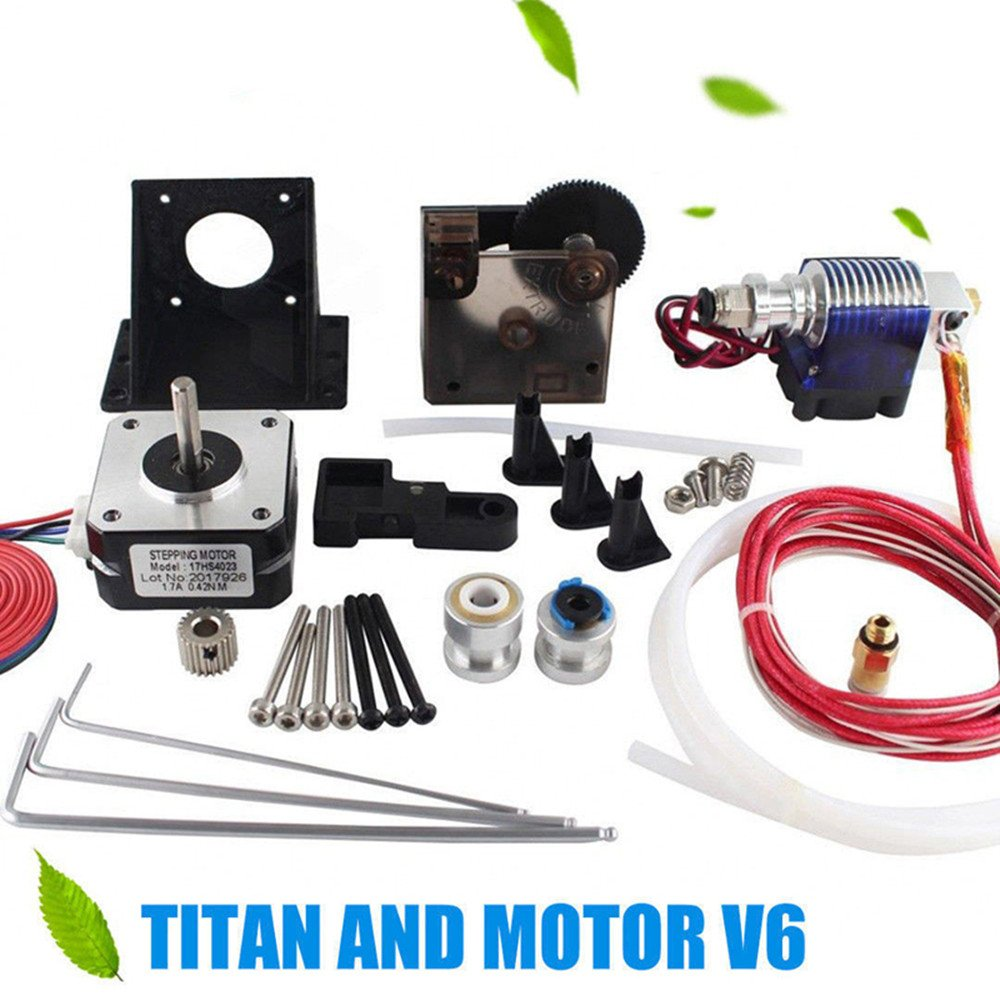 Uranny 1 Set Titan Extruder+Stepper Motor+ v6 Kit for 1.75 3D Printer Part (1-Titan Extruder)