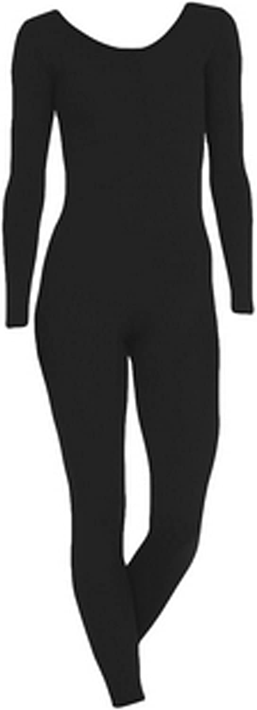 Nylon//Lycra DanceNwear Mens Long Sleeve Scoop Neck Footless Unitard
