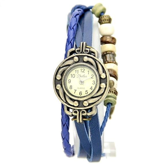 Reloj Vintage Mujer Muzzano pulsera correa y perlas My-Montre