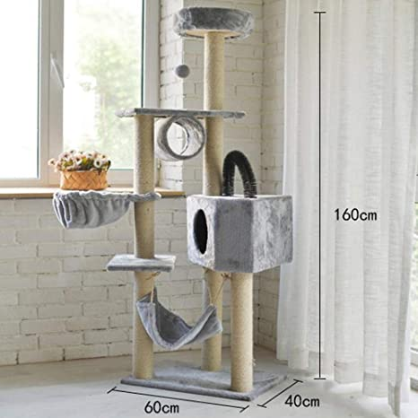 Weiwei Sisal escalada CAT gato árbol grande escalada marco edición de lujo de madera de tres ...