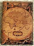 Antique Map Italian Leather Printed Passport Holder Case