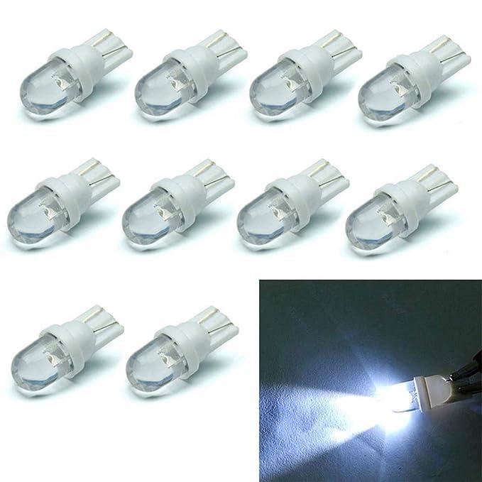 Comtervi - Bombillas LED de posición (12 V, 194 168 158 5 W, luz Blanca: 6500 K, 10 Unidades)
