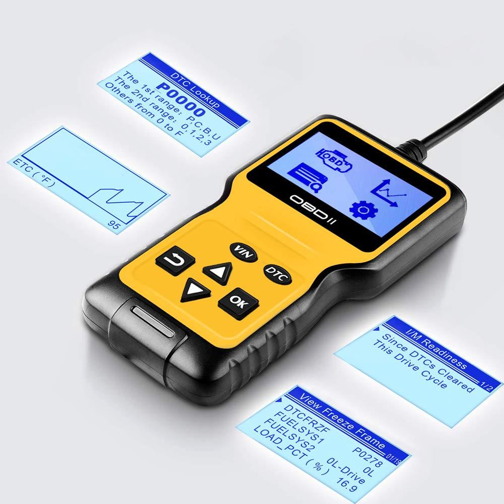 Panlong OBDII OBD2 Scanner Check Engine Light (MIL) Car Diagnostic Code Reader Scan Tool by Panlong (Image #2)