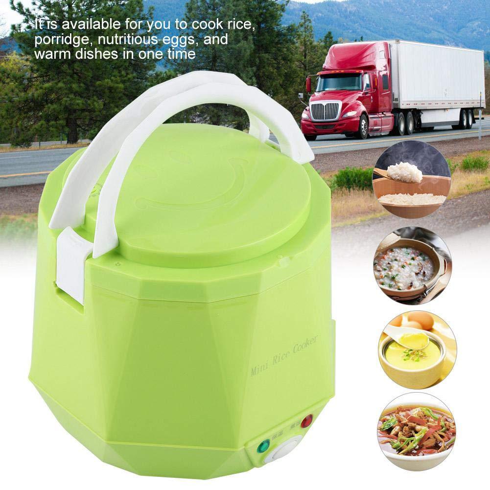 24V 140W White Fiambrera el/éctrica multifuncional port/átil de 1.6 L Ollas el/éctricas con olla interna antiadherente para uso en camiones