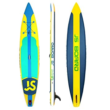 Jsqianchen Race Hinchable Competitivo Stand Up Paddle Board Sup Tabla de Surf (Color : Yellow, Size : 380 * 76 * 15cm): Amazon.es: Deportes y aire libre