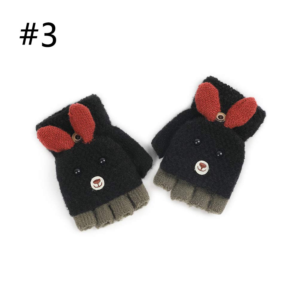 PBFONE Convertible Flip Top Gloves, Winter Warm, guantes sin dedos ...