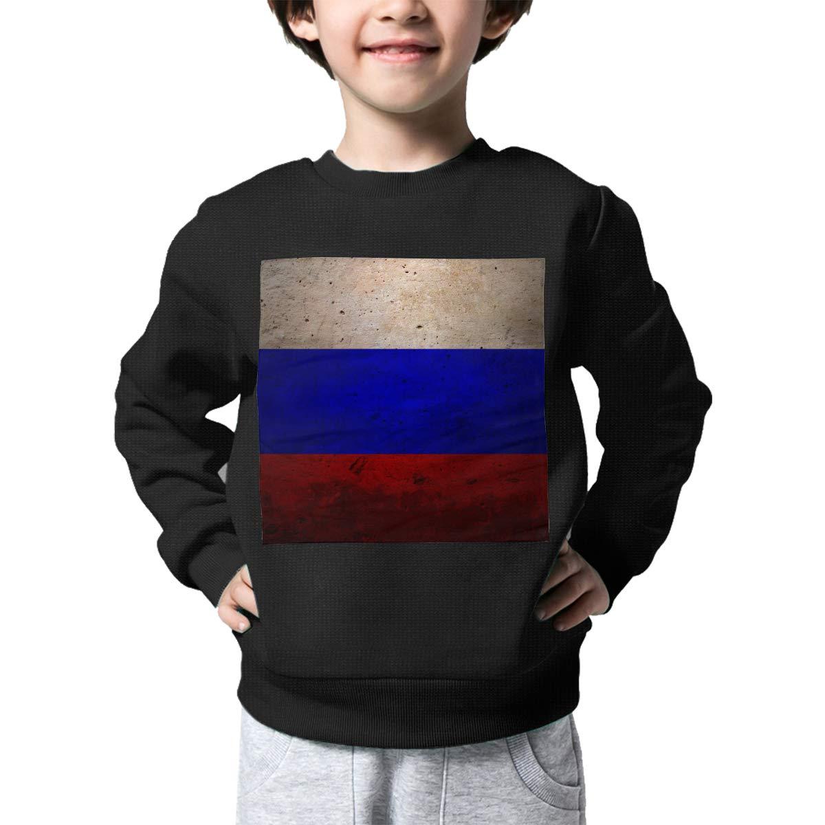 Boys Girls Vintage Russia Flag Lovely Sweaters Soft Warm Unisex Children Kids Sweater