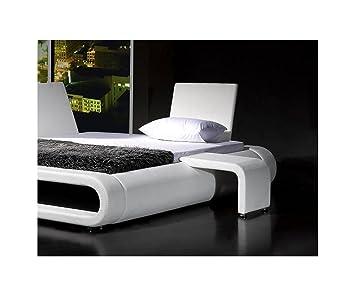SAM ® Rondo Table De Chevet Blanc Compatible Avec Le Lit Design Futuriste  Monté