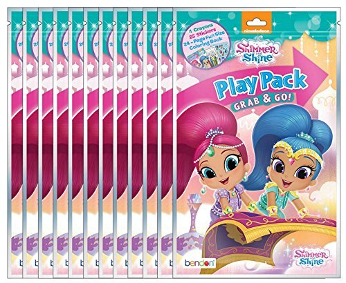 Nickelodeon Shimmer and Shine Grab and Go Play Packs (Pack of 12) (Shine Pack)