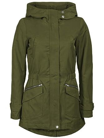 Only Mujer übergangs Chaqueta de Fever Spring Jacket Otw abrigo Parka Primavera Ivy Green Medium : Amazon.es: Ropa y accesorios