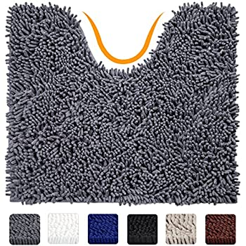 80%OFF Kangkang@ 40 x 60cm U Shape Wide Style High Density Non-slip Bathroom Toilet Pedestal Lint Rug Carpet Floor Mat tapete para banheiro (camel)