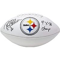 $133 » Signed Rocky Bleier Football - Logo 4x SB Champs Inscribed - JSA Certified - Autographed Footballs