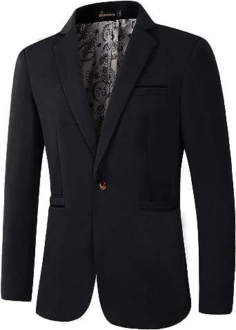 Beninos Men's Slim Fit Casual 1 Button Blazer Jacket Sport Coat
