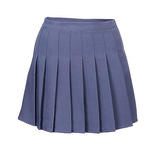 Bibao - Falda de Tenis y Golf para Mujer (Plisada, Cintura Alta) S ...