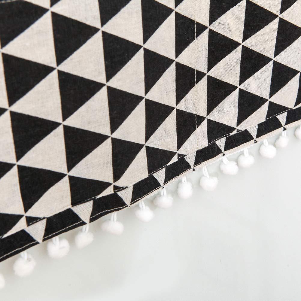 Motif Triangle Noir Vosarea Housse de Protection pour Machine /à Laver R/éfrig/érateur Universel Chargement par Le Haut Lave-Linge S/èche-Linge /Étanche 55 x 130cm