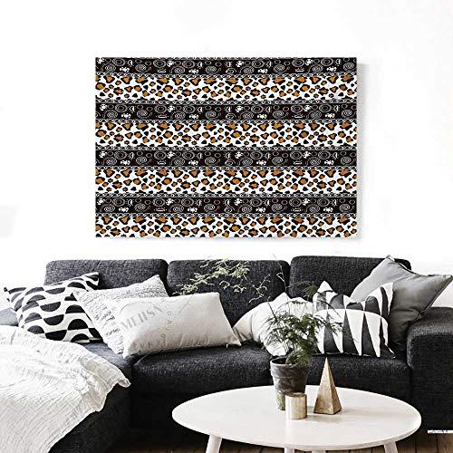 Wall Art African Cheetah Pattern with Circles Spiral Exotic Fur Zoo Safari Image Artwork for Wall Decor 20