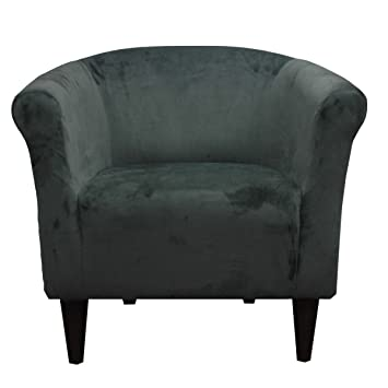 Charmant Foxhill Trading Savannah Club Chair, Pewter Microfiber