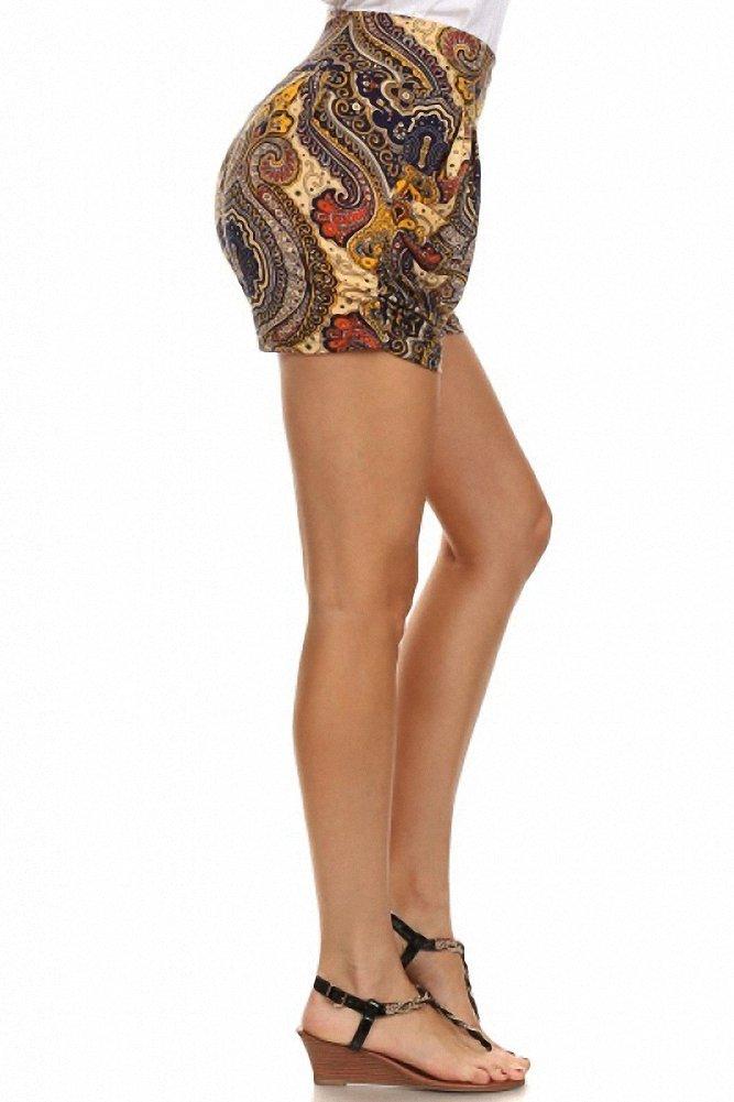 Sassy Apparel Women's Melete Print Stylish Harem Style Summer Shorts (Large/X-Large, Multi) by SASSY APPAREL (Image #2)