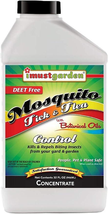 Debo jardín repelente de mosquitos, garrapatas y pulgas – 32oz Concentrate: Amazon.es: Jardín