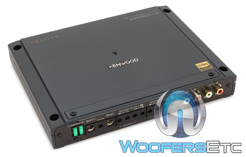 Amazon.com: Kenwood Excelon Reference XR401-4 Class D 4 Channel Power Amplifier: Car Electronics