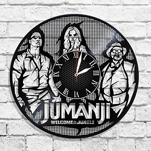JUMANJI Handmade Vinyl Record Wall Clock - Get unique home room wall decor - MARVEL COMICS Gift ideas for parents, teens – Epic Movie Unique Modern Art