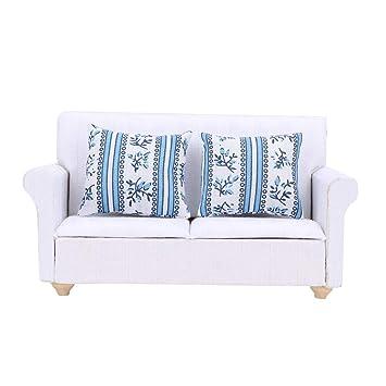 Peachy Amazon Com Keyren 1 12 Mini Sofa Dollhouse Furniture Dailytribune Chair Design For Home Dailytribuneorg