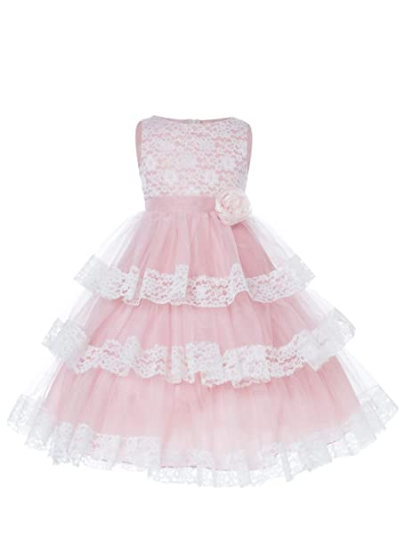 Sofyana Baby Girls Lace Princess Gown Birthday Party Wear Long