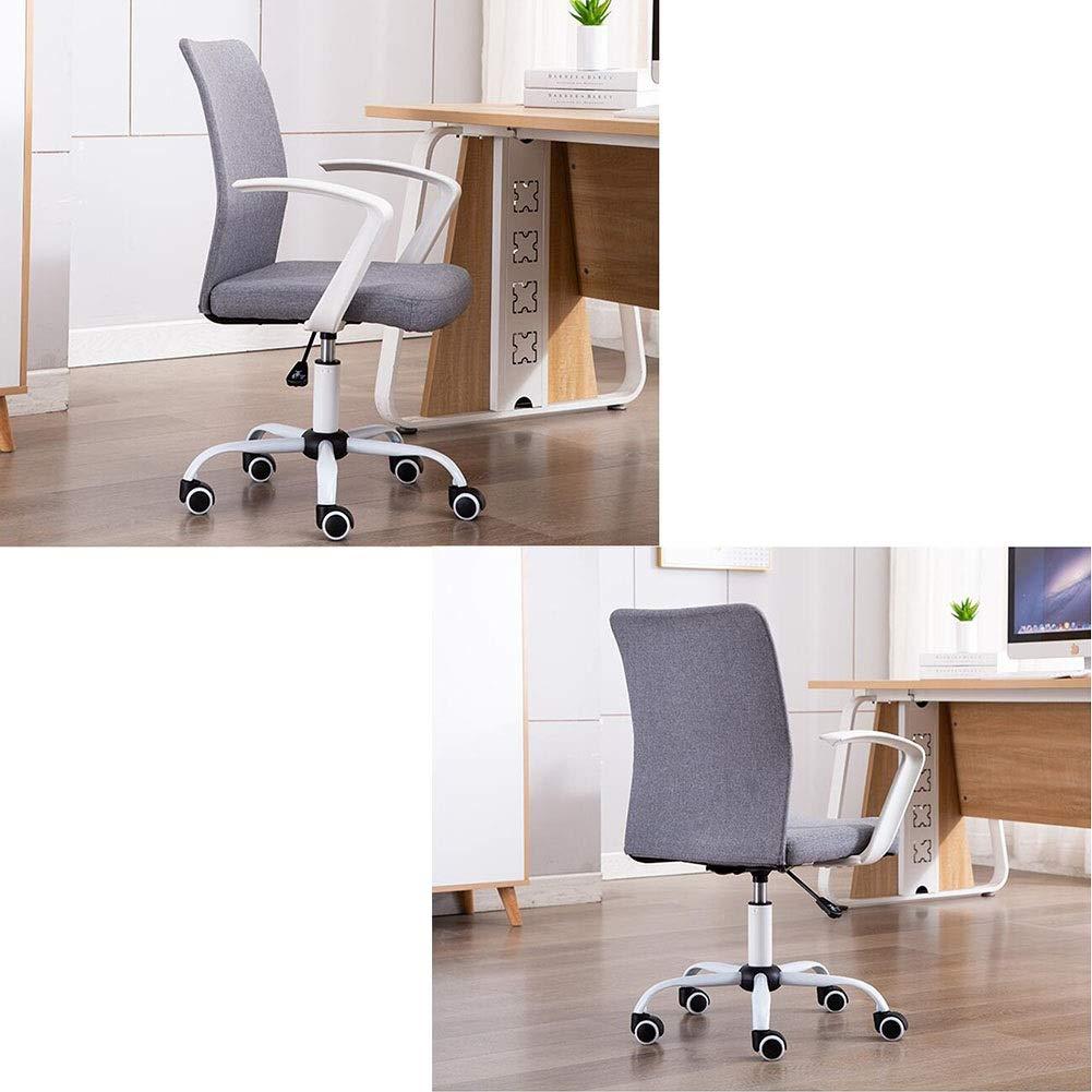 WYYY stolar kontorsstol ergonomisk svängbar stol verkställande datorstol stål baserad justerbar höjd 39–47 cm hållbar stark (färg: svart) Grått