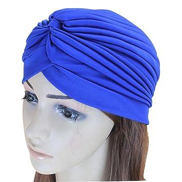 LIOOBO Sombrero de Turbante Indio Gorra de Cuello Alto de ...