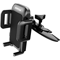 Car Phone Mount,Mpow CD Slot Car Mount Phone Holder with 360 Degree Rotation, Three Side Grips for Larger Device for iPhone X/6/8/7 Samsung Galaxy S7 edge/S8/a5 Note 9/8/LG g6 Google pixel/Nexus,GPS