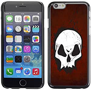 PC/Aluminum Funda Carcasa protectora para Apple Iphone 6 Plus 5.5 Cool Goth Skull Red / JUSTGO PHONE PROTECTOR