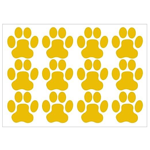 Wandkings Wandtattoo Hundepfoten A4 Set 21 X 30 Cm Goldgelb