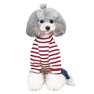 Amazon.com: bondogland lindo rayas perro ropa para perros ...