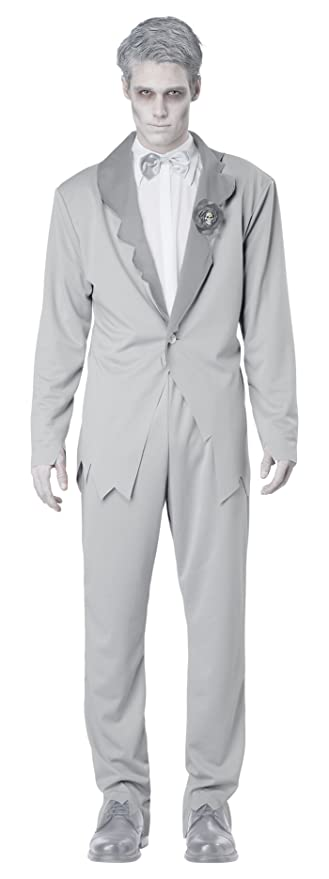1940s Men's Costumes: WW2, Sailor, Zoot Suits, Gangsters, Detective  Ghostly Groom Adult  AT vintagedancer.com