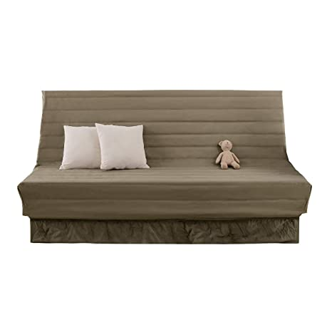 Deconovo Fundas para Sofas 2 Plazas sin Brazos 90 x 60 x 190 cm Gris Topo