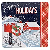 "Certified International Retro Christmas Square Platter, 12.5"", Multicolor"