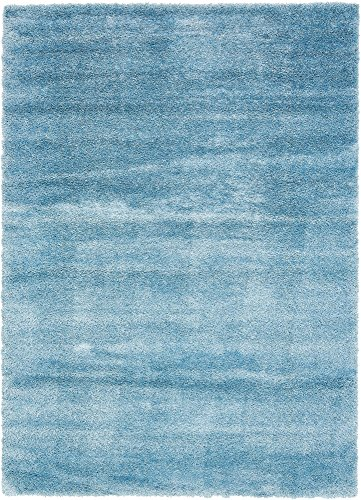 Unique Loom Luxe Solo Collection Plush Modern Light Blue Area Rug (8' 0 x 11' 4)